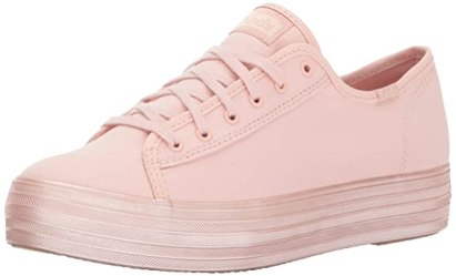 Keds Women's Triple Kick Shimmer Fashion Sneaker, Blush, 9.5 M US