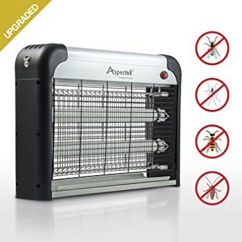UPGRADED - Aspectek 20W Electronic Bug Zapper, Insect Killer, Mosquito Control, Mosquito Zapper, Mosuiqto Killer, Fly Zapper, Fly Killer for Indoor Residential & Commercial