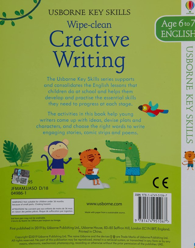 Key Skills Wipe-Clean - Creative Writing - Age to 29-29: Young
