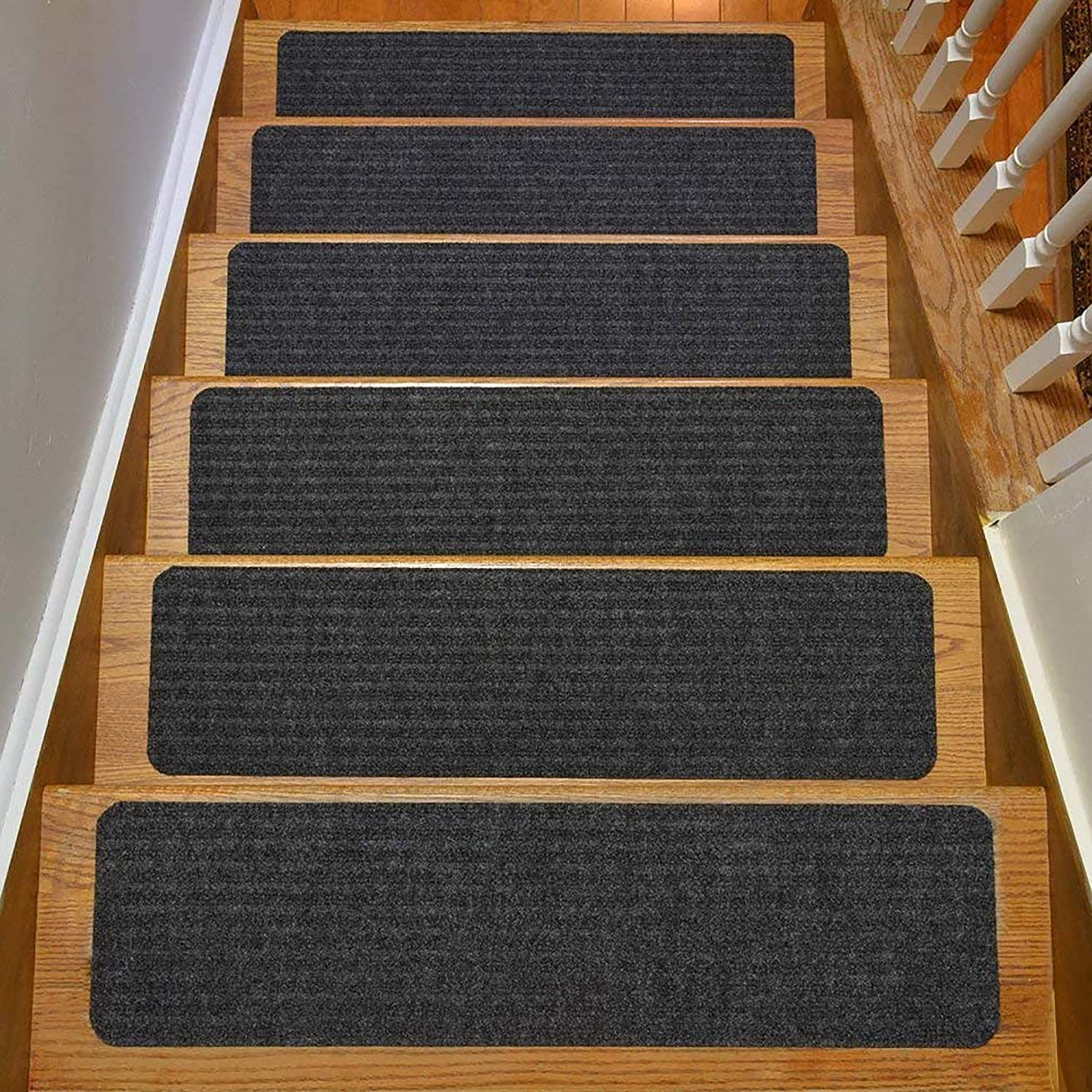 Amazon Com Rugstylesonline Stair Treads Collection Indoor Skid | Individual Carpet Stair Treads | Bullnose Carpet | Wood | Hardwood | Flooring | Spiral Staircase