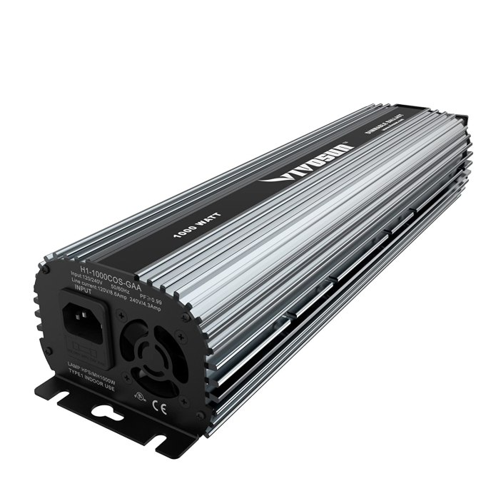 VIVOSUN 1000 Watt UL listed Dimmable Electronic Digital Ballast
