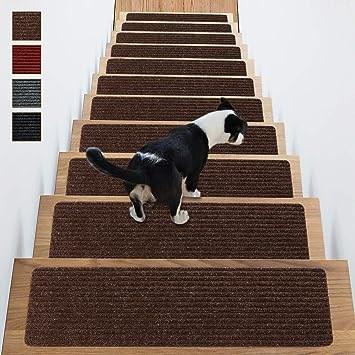 Stair Treads Non Slip Carpet Indoor Set Of 14 Brown Carpet Stair | Rug Stair Treads Non Slip | Vinyl Flooring | Skid Resistant | 8.5 X26 | Overstock | Mat