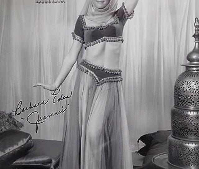 Barbara Eden Hand Signed Oversized X Photo Sexy Jeannie Pose