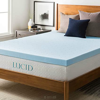 Amazon Com Lucid Fba_lu30kk30gt 3 Inch Gel Memory Foam Mattress Topper King 3 Inch Home Kitchen