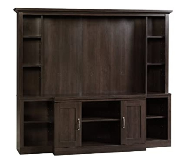 Amazon Com Sauder 403932 Home Theater For Tvs Up To 46 Cinnamon Cherry Finish Kitchen Dining