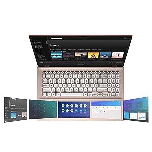 "Asus Vivobook S15 Thin & Light Laptop, 15.6"" FHD, Intel Core I5-8265U CPU, 8GB DDR4 RAM, PCIe NVMe 512GB SSD, Windows 10 Home, S532FA-DB55-PK, Punk Pink"