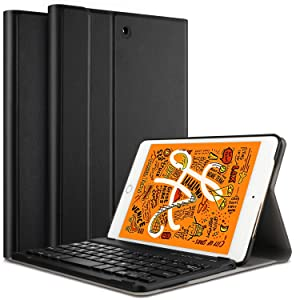 ELTD Keyboard Case for iPad Mini 5 2019 Front Prop Stand Case with Detachable Keyboard for iPad Mini 5 7.9 inch 5th Generation 2019 Model A2133 A2124 A2126 A2125 (Black)