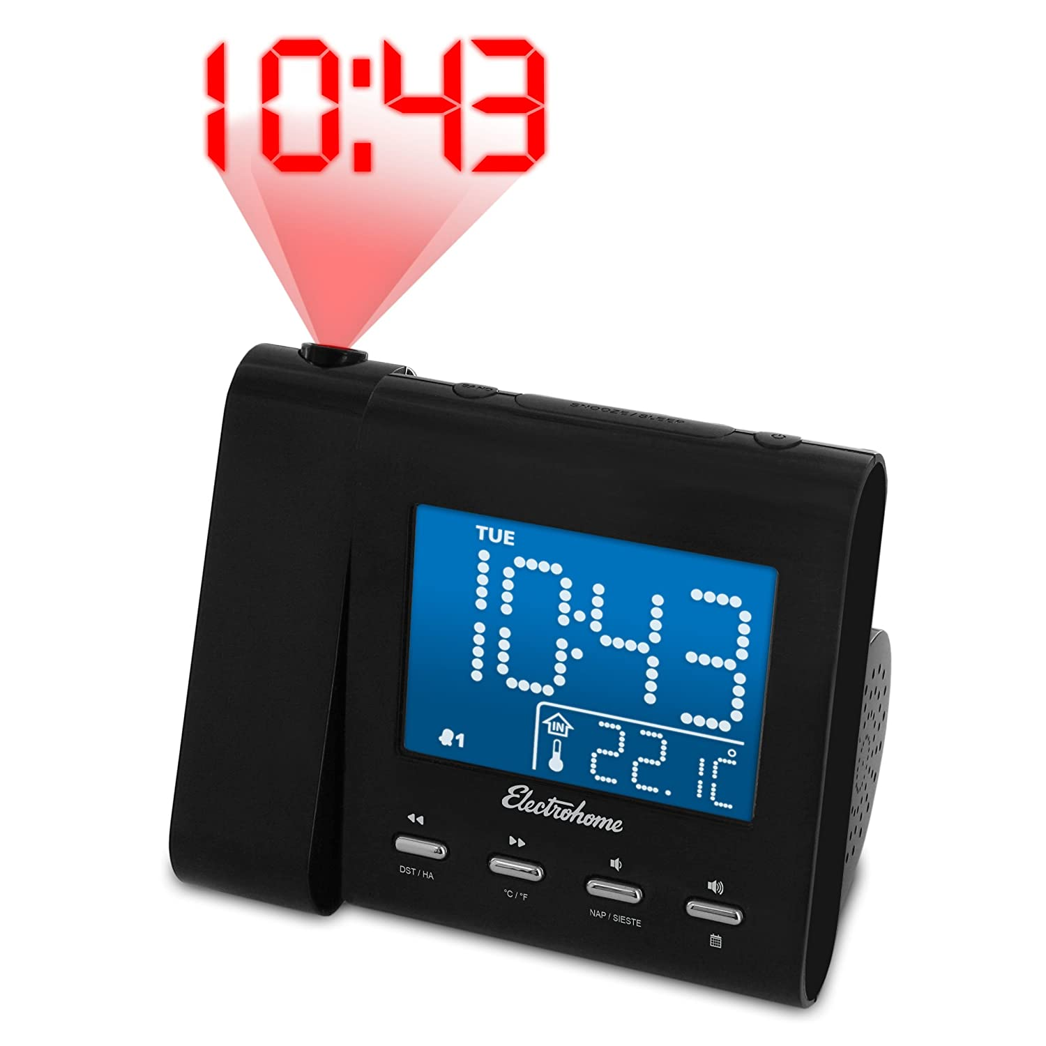 Electrohome-EAAC601-Projection-Alarm-Clock