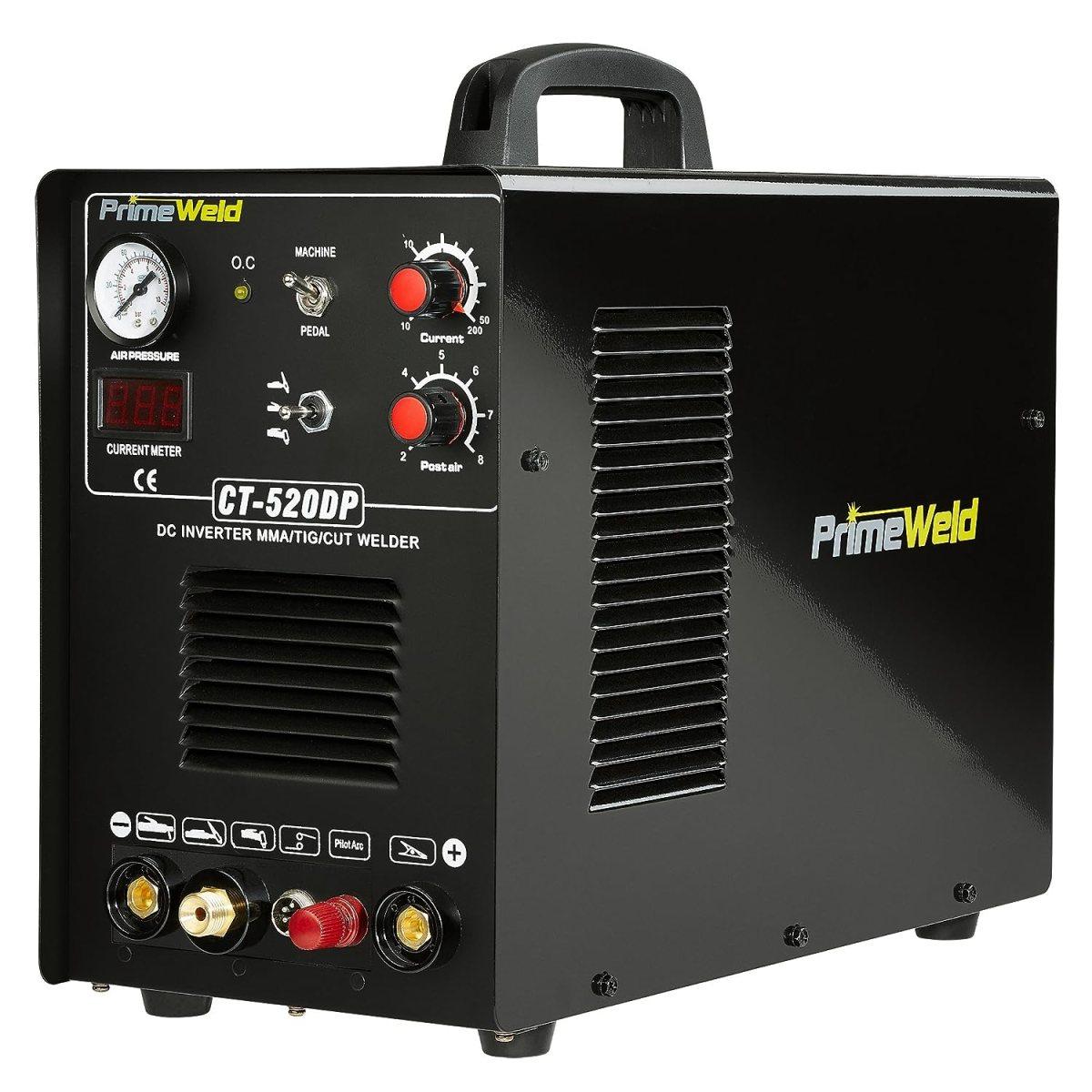 PrimeWeld Pilot Arc 50A Plasma Cutter, 200A TIG/Stick Welder Combo, Multipurpose Welding Machine