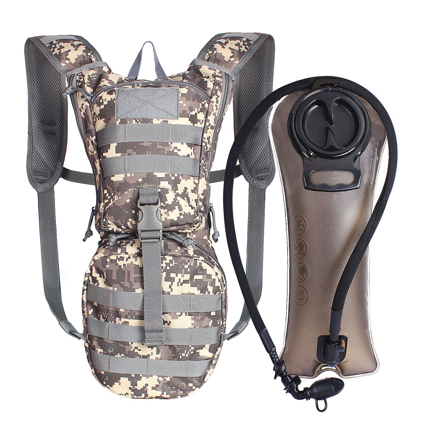 Unigear Tactical Hydration Pack Backpack 900D with 2.5L Bladder for Hiking