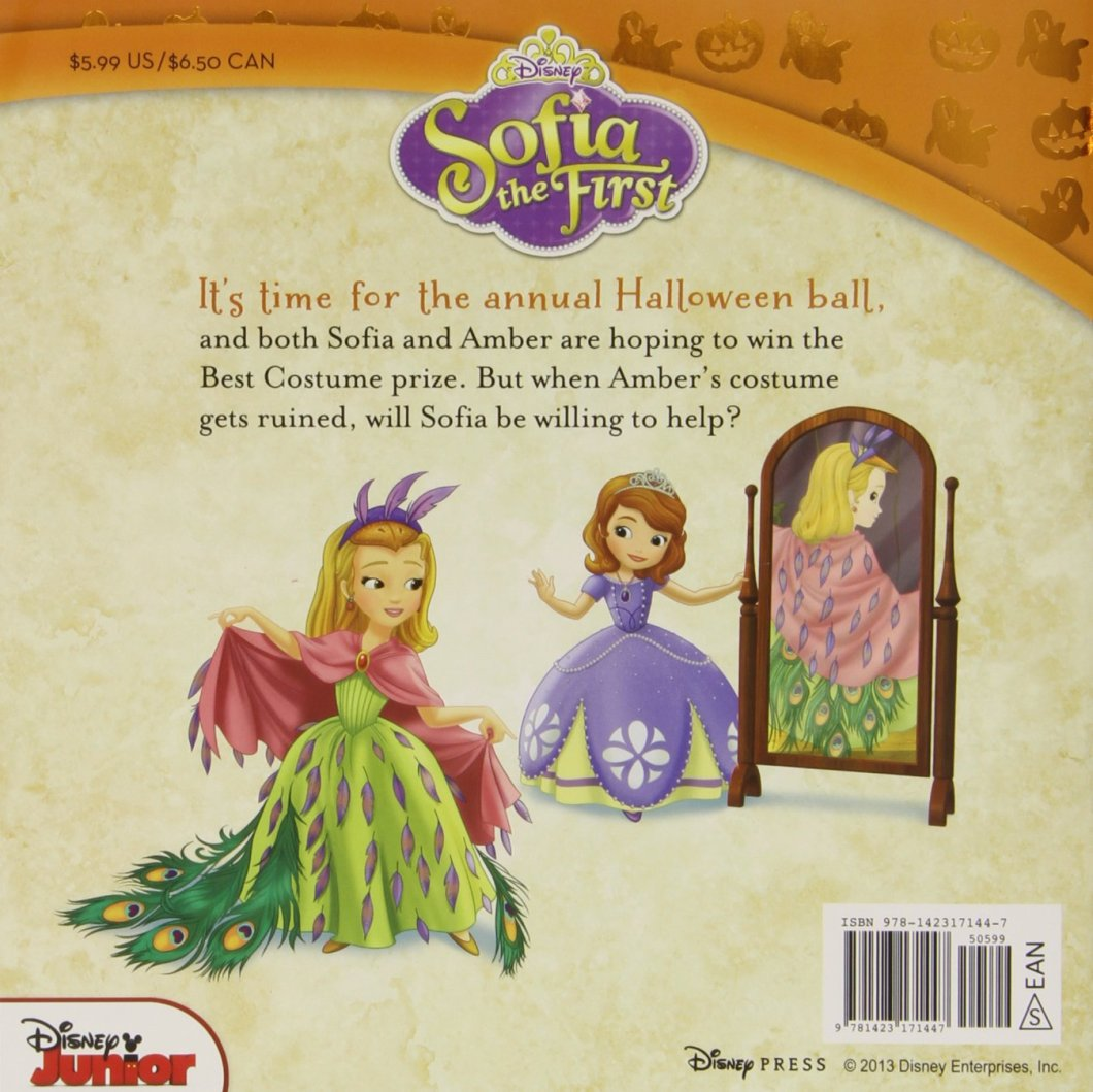 sofia the first halloween ball includes stickers disney book