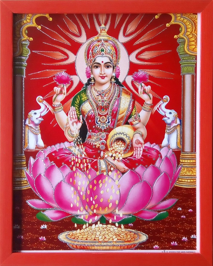 Buy Shree Handicraft Acrylic sheet Goddess Lakshmi Laxmi Ji Photo Frame  Home Decorative Painting (24 x 30 x 1.2 cm, Orange) Online at Low Prices in  India - Amazon.in