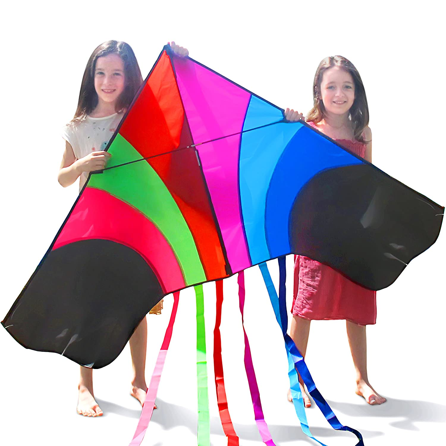 Huge Rainbow Kite That is Ideal for Kids and Adults