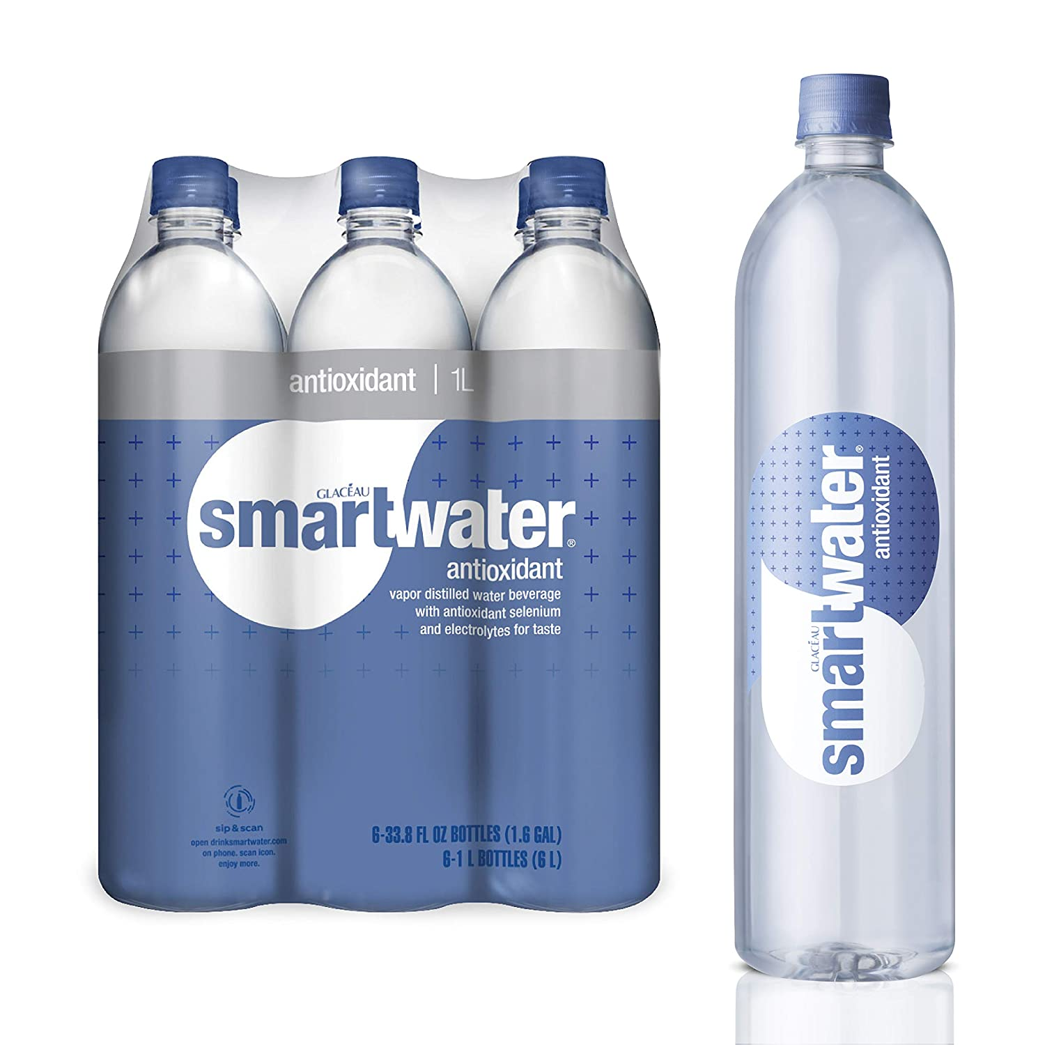 smartwater Antioxidant Selenium, Purely Balanced Ph Vapor Distilled Premium Water