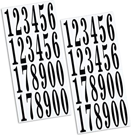 Outus Numbers Stickers Self Adhesive Vinyl Numbers In 0 9 Printing And Hot Stamping For Diy Crafts Party Decoration 3 High 20 Sheets Amazon Co Uk Kitchen Home