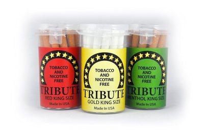 "Tribute ""3-Pack Sampler"" - Tobacco Free - Nicotine Free - Herbal - Cigarette Alternative"