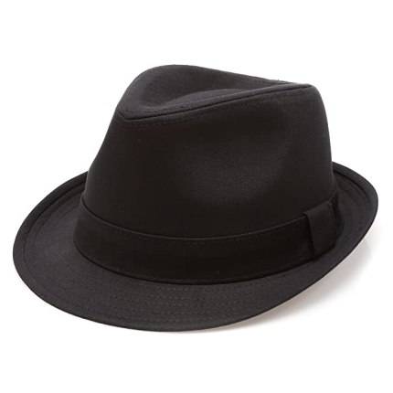 Image result for MIRMARU Classic Trilby Short Brim 100% Cotton Twill Fedora Hat with Band