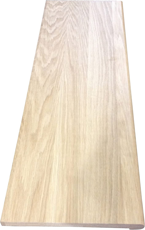 Qwiktread 3 4 X 11 1 2 X 48 Unfinished White Oak Stair Tread | Oak Wood Stair Treads | Hardwood Lumber | Risers | Hardwood Flooring | Solid Oak | Return