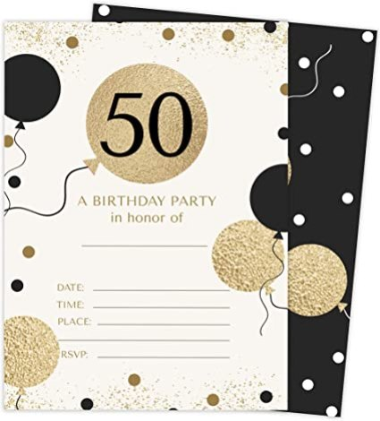 50th Birthday Invitations Ideas