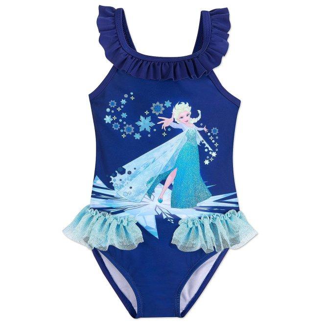 Disney Elsa Swimsuit for Kids - Frozen Blue