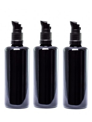 UltravioLeaf Glass Push Pump Bottle 100ml 3 Pack