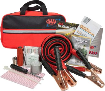 Amazon.com: Lifeline AAA Premium Road Kit, 42 Piece Emergency Car Kit with  Jumper Cables, Flashlight and First Aid Kit,4330AAA,Black: Automotive