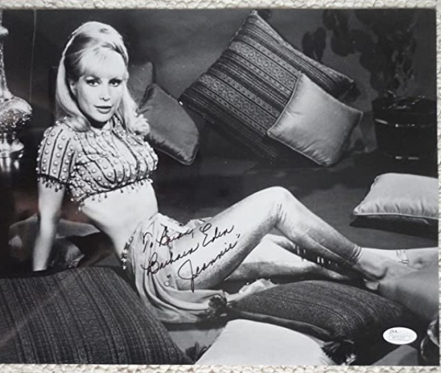 Barbara Eden Hand Signed Oversized X Photo Sexy Jeannie To