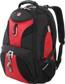 SWISSGEAR 1900 ScanSmart TSA Laptop Backpack- Red/Black