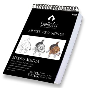Bellofy 100-Sheet Sketchpad Artist Pro,