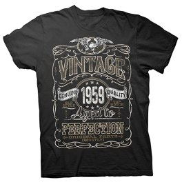 Image result for mens tshirt vintage 1959 aged to perfection original parts