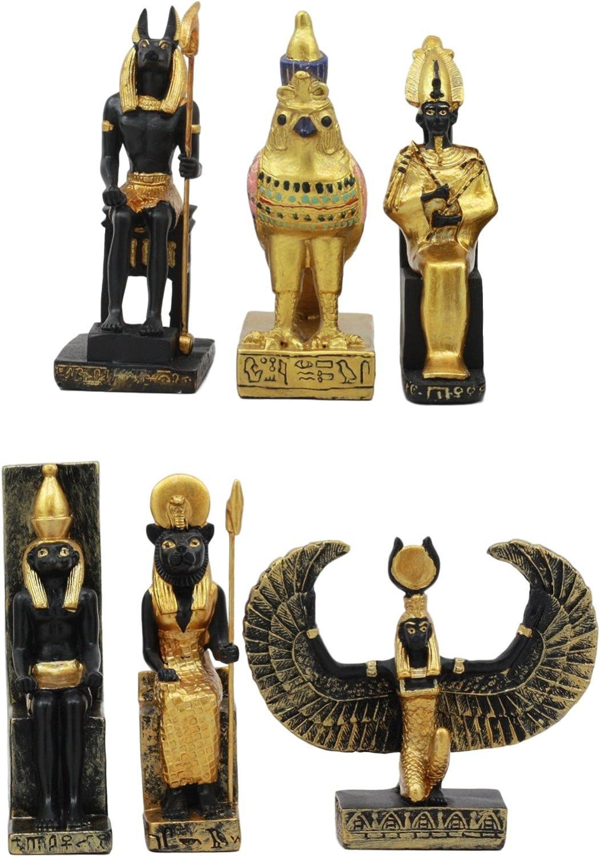 Ebros Egyptian Classical Deities Miniature Figurines - Set of 6