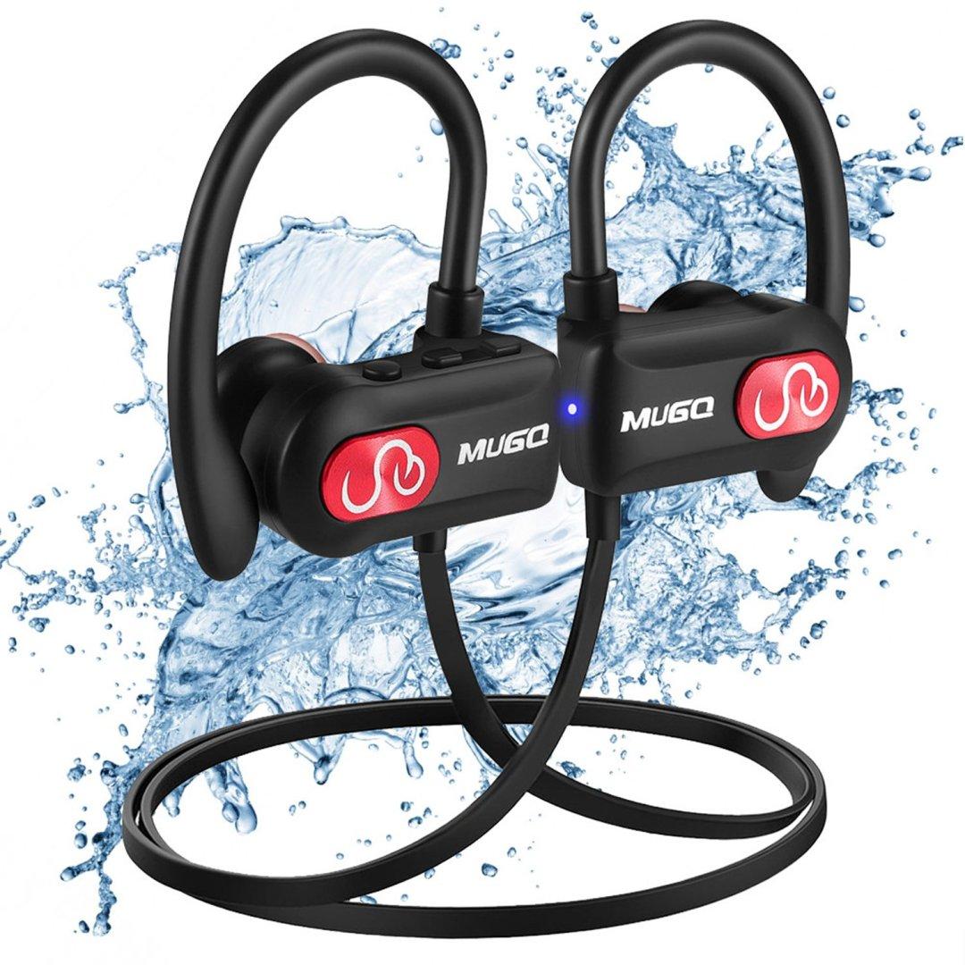 Écouteur Bluetooth Sport, IPX7 Étanche Ecouteur Bluetooth HiFi Stéréo Ecouteurs sans Fil avec Microphone Anti-Bruit Léger Écouteurs Intra Auriculaire pour Course/Gym/Jogging, 10 Heures Lecteur Musique
