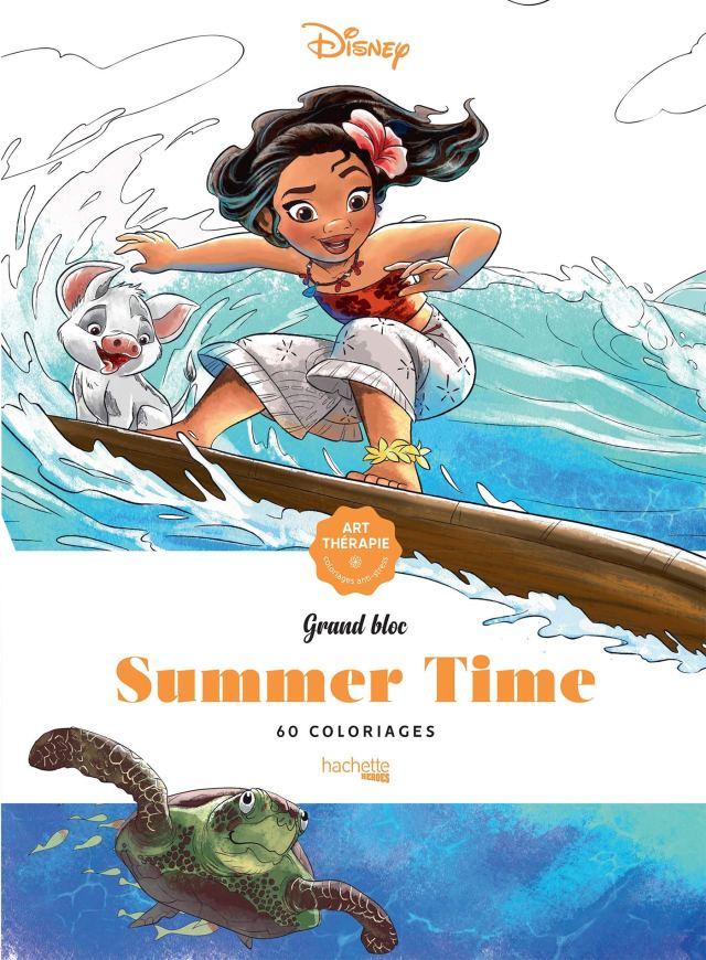Grands Blocs coloriages Disney Summer time: 30 coloriages : Disney