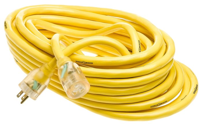 Amazon.com: Heavy-Duty 15-Amp Extension Cord We carry this extension cord for being able to park further away from a power source. Heavy Duty is critical to be able to use a full 15A.