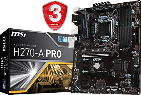 MSI H270-A PRO Mining Motherboard Crytocurrency BTC Intel H270/ ATX  Motherboardwith 6 PCIe Slots and M.2: Amazon.ca: Computers & Tablets