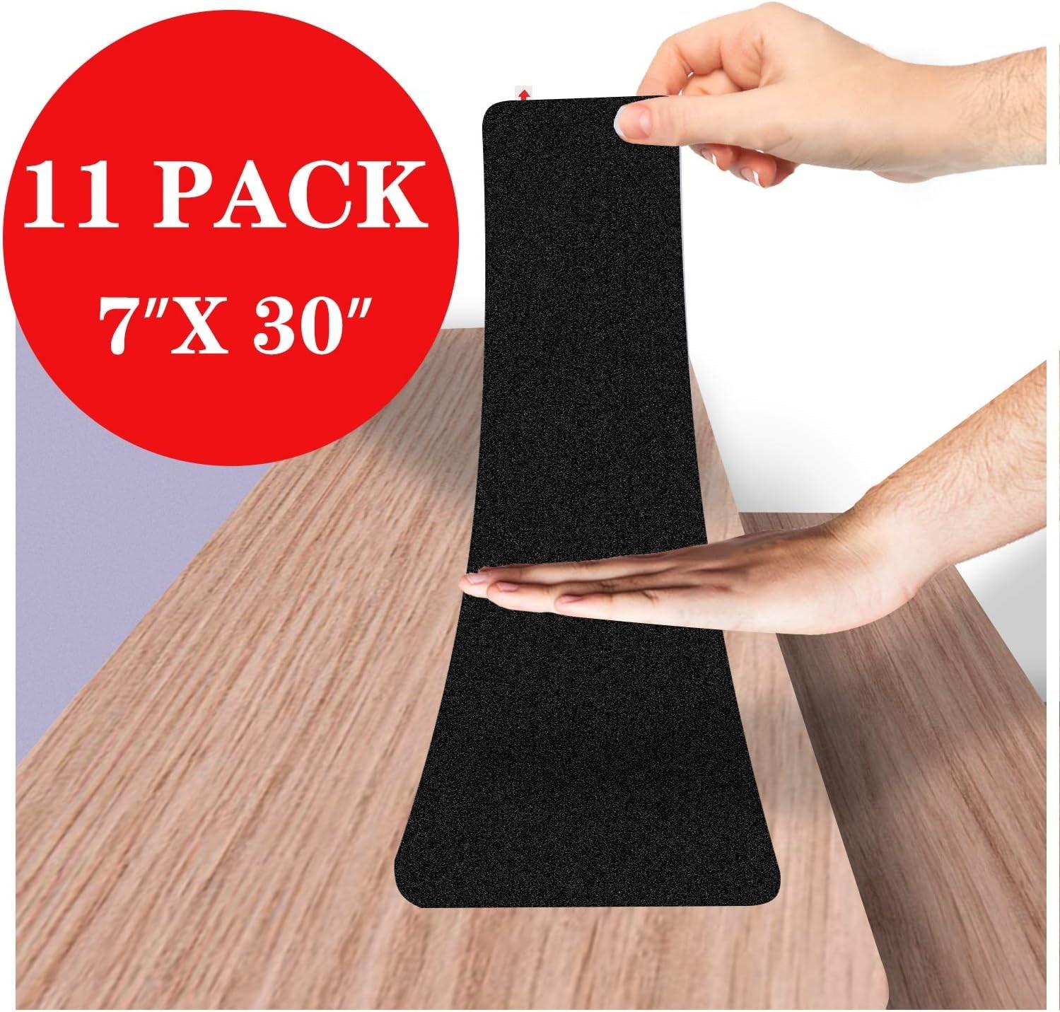 "7""X30""Anti Slip Tape Outdoor Stair Treads Non Slip Stair Treads | Amazon Outdoor Stair Treads | Self Adhesive | Non Skid | Rubber Backing | Rubber Stair | Carpet Stair"