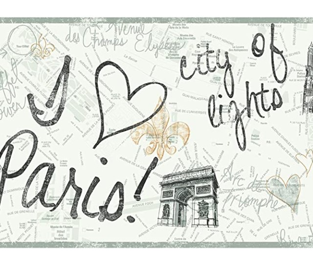 Amazon Com York Wallcoverings Pw3901b Girl Power 2 Paris Border White Background Black Gold Home Improvement