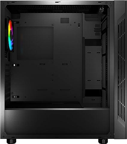 MSI アドレッサブルRGB LEDファン搭載 ミドルタワーPCケース MAG VAMPIRIC 010 ブラック [国内正規流通品]