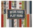 Carta Bella Paper Company CBWH48015 Work Hard Play Hard Paper Pad, 6