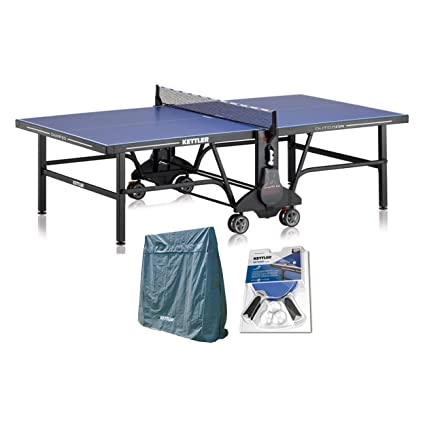 Kettler Champ 50 Outdoor Table Tennis Table With Outdoor Accessory Bundle