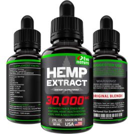 Hemp Oil 30000 MG – Extra Strength for BIO-Efficacy – 100% Natural & Safe Hemp Seed Oil – Stress & Anxiety Relief – Made in USA – Anti Inflammatory & Immunity Support – Deep Sleep & Mood Boost.
