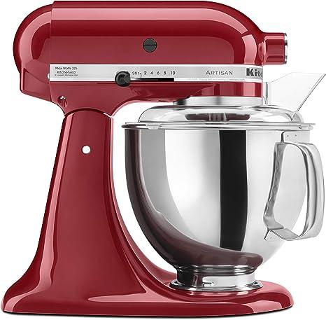 KitchenAid KSM150PSER Artisan Tilt-Head Stand Mixer with Pouring Shield, 5-Quart, Empire Red