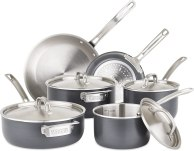 Viking 5-Ply Hard Stainless Cookware Set with Hard Anodized Exterior, 10 Piece