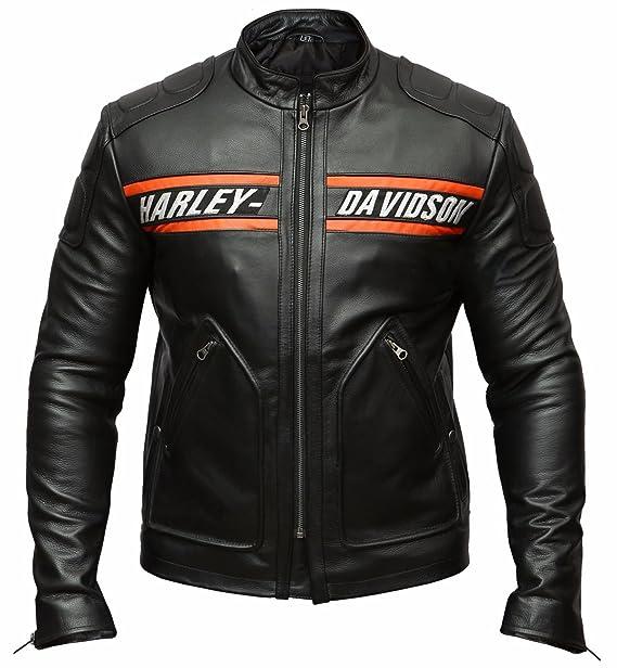 Bill Goldberg Harley Black Motorcycle Screamin Eagle Leather Jacket Large