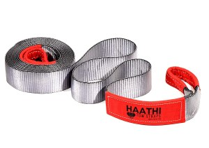 Haathi Tow Strap, 25 feet x 3 inches, 15 Ton Break Strength, Weighs only 2.7 kgs, Extremely Flexible & Soft, Easily Rolled for Storage