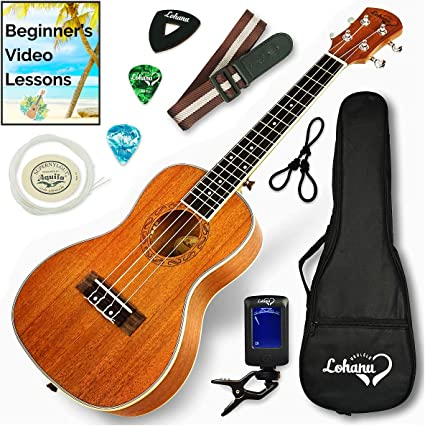 Amazon.com: Ukulele Concert Size Bundle From Lohanu (LU-C) 2 Strap ...