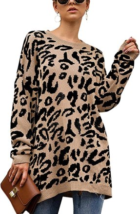 Leopard Tunic Sweater - Fall Outfit Ideas