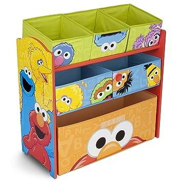 Amazon Com Delta Children 6 Bin Toy Storage Organizer Sesame Street Childrens Storage Furniture Industrial Scientific
