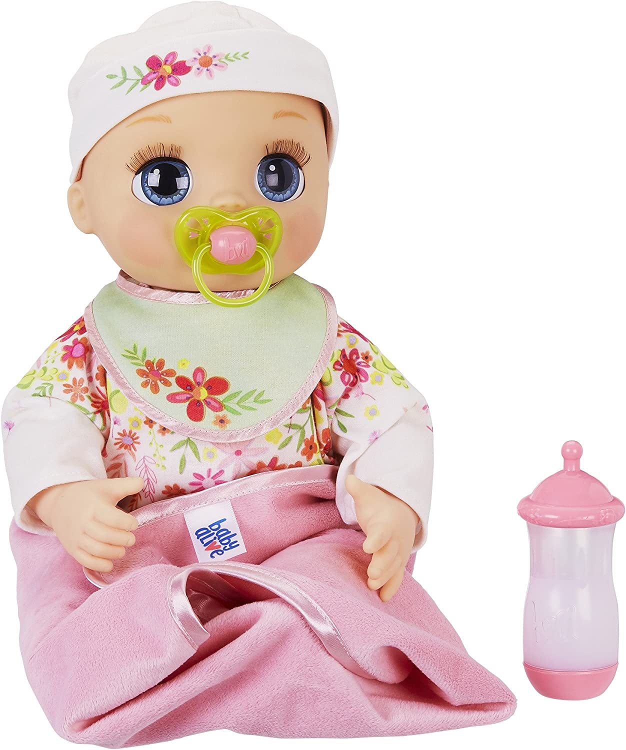 Amazon Com Baby Alive Real As Can Be Baby Realistic Blonde Baby Doll 80 Lifelike Expressions Movements Real Baby Sounds With Doll Accessories Toy For Girls And Boys 3 And Up Toys