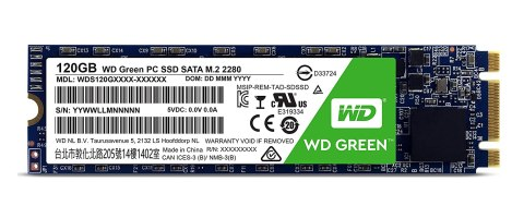 WD SSD 内蔵SSD M.2 120GB WD Green SATA3.0 6G / 3年保証 / WDS120G1G0B